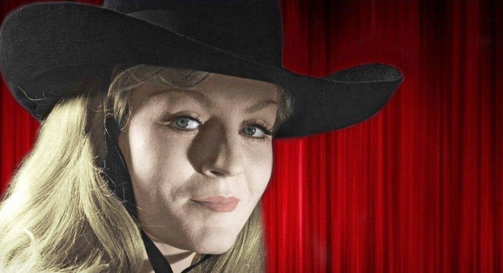 Анна Герман в чёрной (ковбойской) шляпе