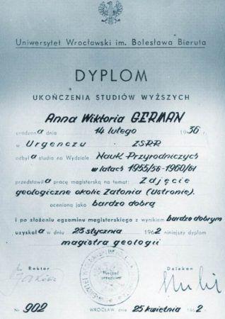 Диплом Анны Герман