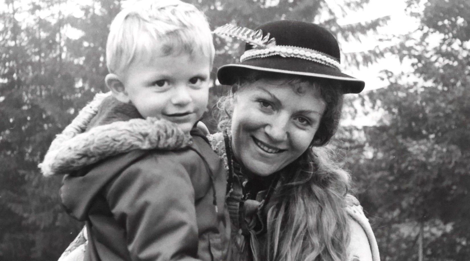 Анна Герман со своим сыном