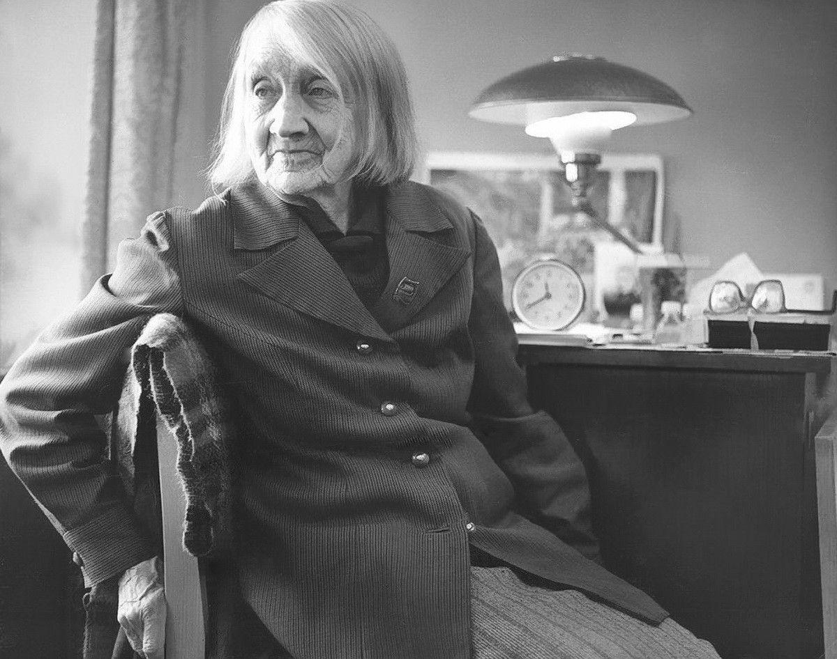 Анастасия Цветаева, фото из каталога Льва Попова.